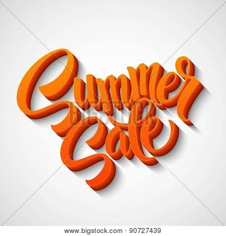 Summer sale message on orange background