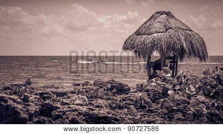 Sepia Tone Caribbean Coast