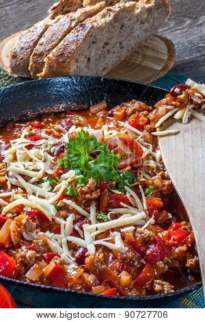Chilli Con Carne With Cheese.