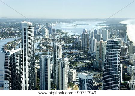 Gold Coast City, Surfers Paradise cityscape with Soul building