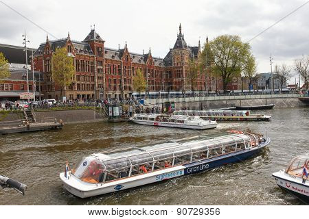 View of Amsterdam Central train station