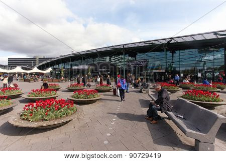 Main entrance to Schiphol Airport