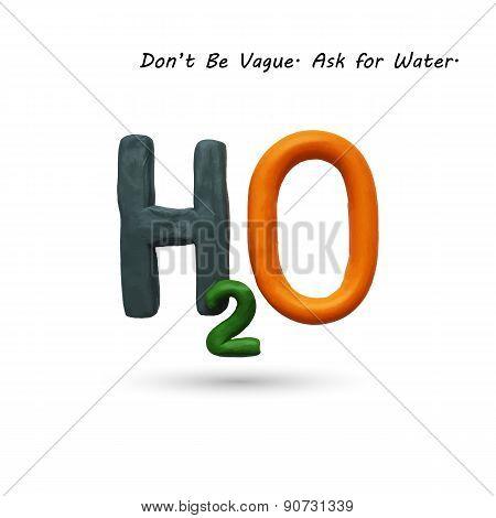 Formula of water H2O