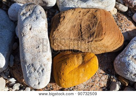 Three Stones Of Different Colors