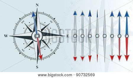 Compass With Similar Arrows