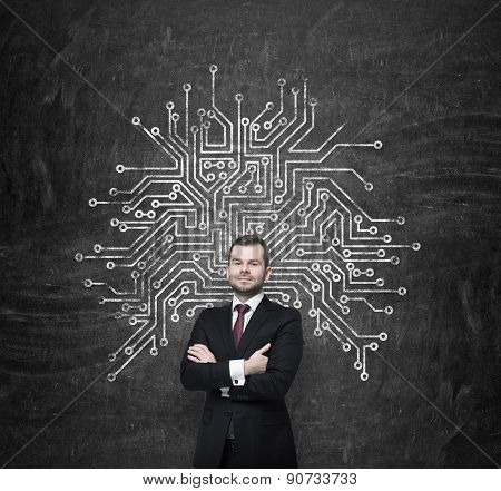 Handsome Information Technology Specialist Is Thinking About Optimisation Of The Business Process' S