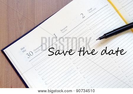 Save The Date Concept