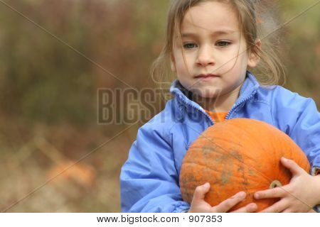Picking Her Pumpkin