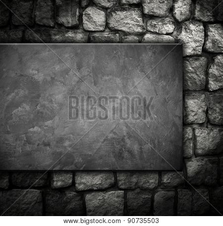 concrete wall on stone background