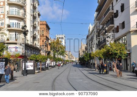 Urban View of Seville City