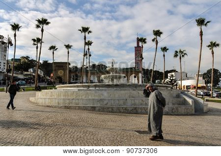 Square in Tangier City, Morocco