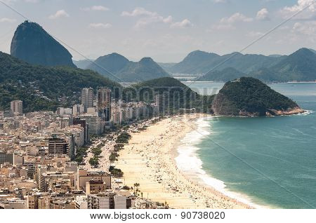Aerial view of Copacabana Beach