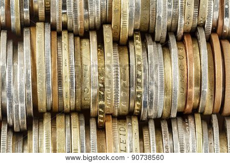 Coins Arranged In Rows