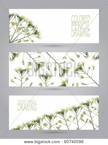 Banners With Beautiful Spring Plants