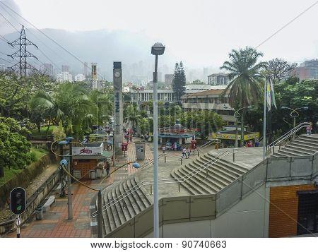 Esplanade In Medellin Colombia