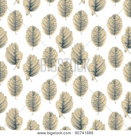 Seamless Pattern With Beautiful Spring Leaves