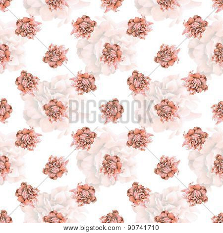 Seamless Pattern With Beautiful Roses