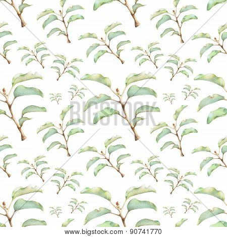 Seamless Pattern With Beautiful Spring Plants