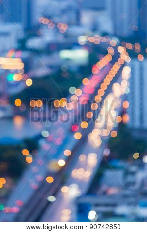 Abstract blur bokeh city bridge