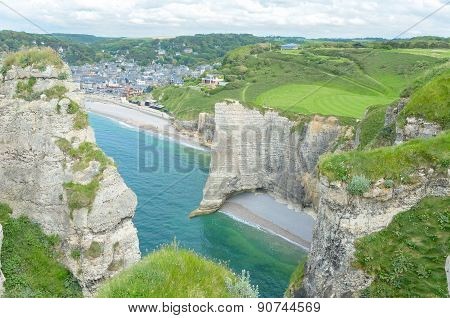 Beautiful view of Etretat, Normandy, France