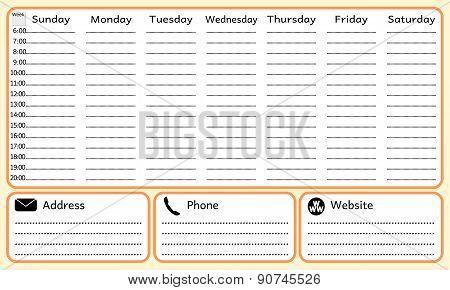 Week planning notebook