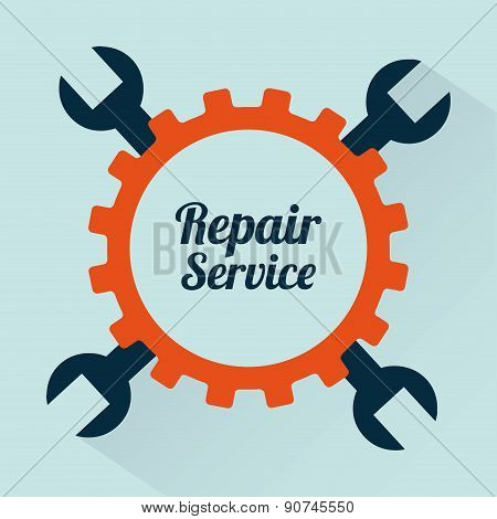 repair service over green background vector illustration