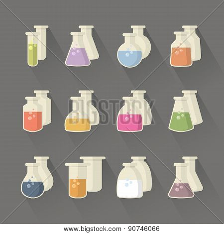 Chemical and science flask