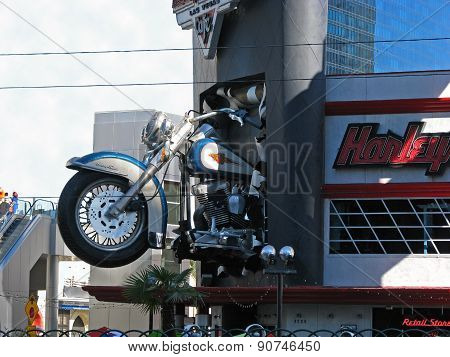 LAS VEGAS, NEVADA, USA  - NOVEMBER 03: Harley Davidson Cafe 2012