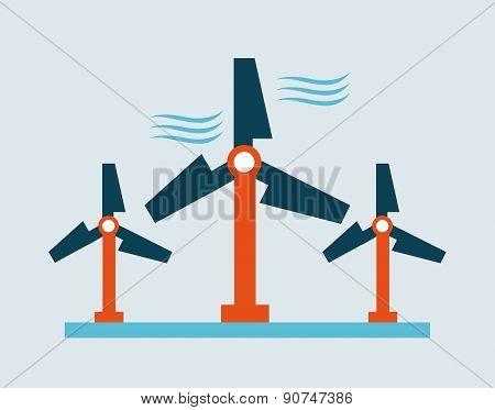 energy design over blue background vector illustration