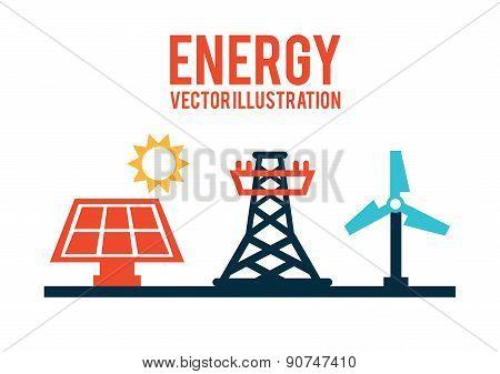 energy design over white background vector illustration