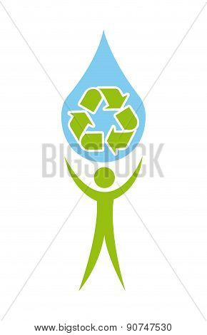 recycle design over white backgroundvector illustration