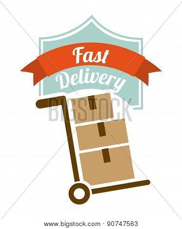 delivery design over white background vector illustration