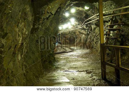 Under Ground Mine Tunnel