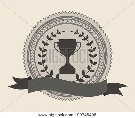 champion design over beige background vector illustration