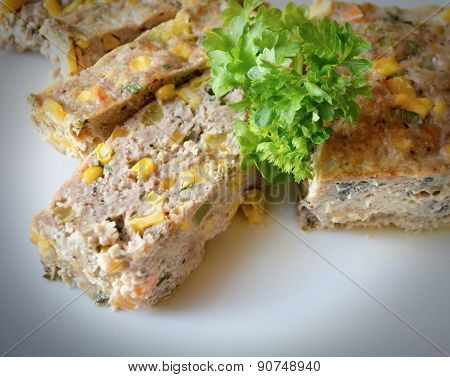Casserole Of Minced Meat With Vegetables