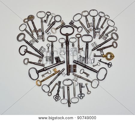 Heart Shape made from antique keys