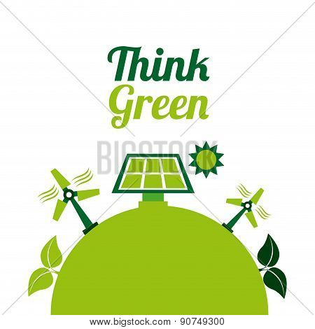 eco energy design over white background vector illustration