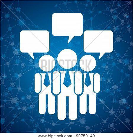 teamwork design over blue background vector illustration