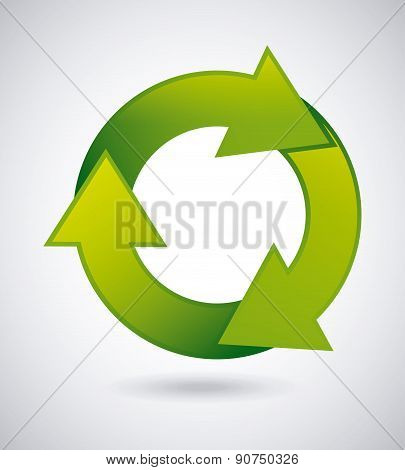 Recycle design over gray background vector illustration