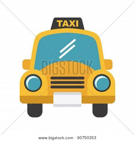 taxi design over white backgroundvector illustration