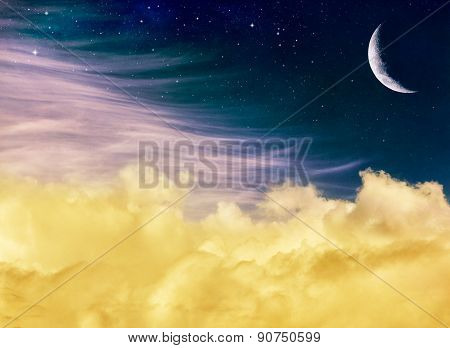 Fantasy Moon And Clouds