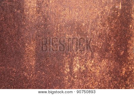 Warm Rusty Grunge Metal Texture. Photo Background
