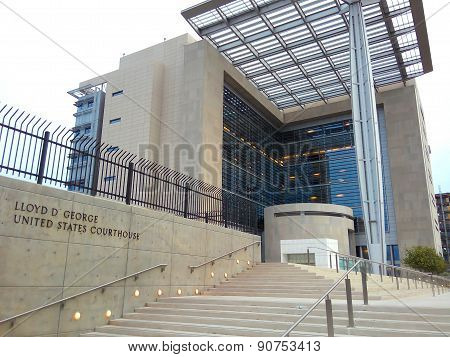 United States Courthouse Exterior In Downtown Las Vegas