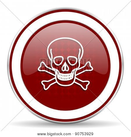 skull red glossy web icon