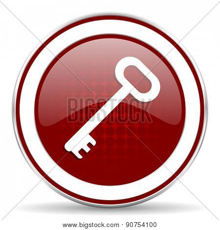 key red glossy web icon