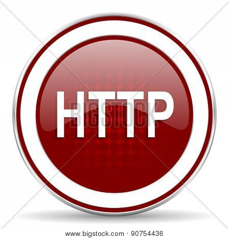 http red glossy web icon