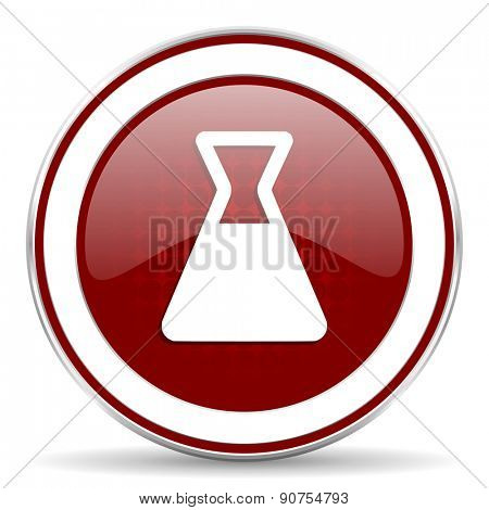 laboratory red glossy web icon