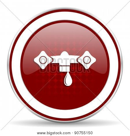 water red glossy web icon