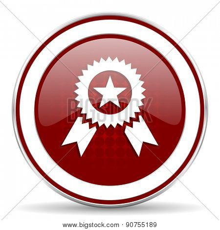 award red glossy web icon