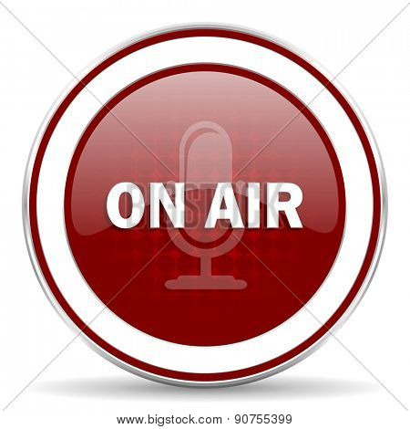 on air red glossy web icon